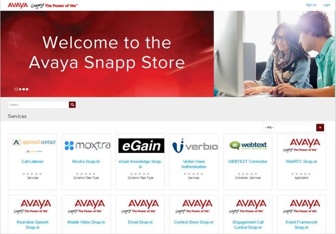 Avaya cloud services appstore